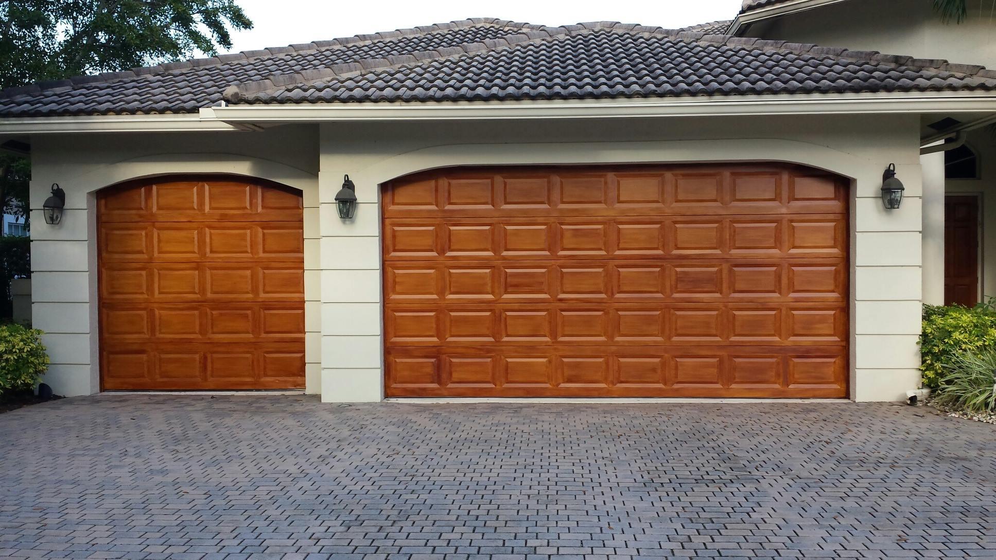 Exterior finishing fine finisher for Faux finish garage doors